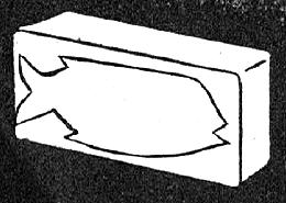 Trace design on soap