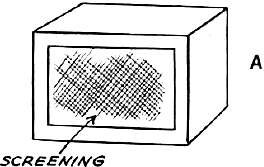 Cut a piece of window screening a little larger  than the window opening, and glue it over the opening from the inside