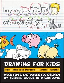 drawing for kids learn how to draw cartoons by turning words into cartoons - Drawing Books For Kids