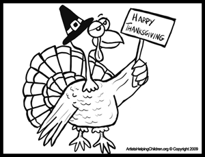 We Are Thankful Printable Coloring Page