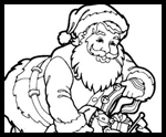 Santa coloring pages and santa printables printouts for for Santa claus is coming to town coloring pages