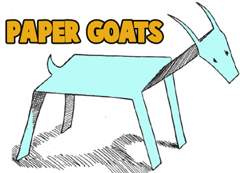 How to Make Standing Paper Goats
