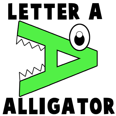 Alphabet Letters A Alligators Making Craft
