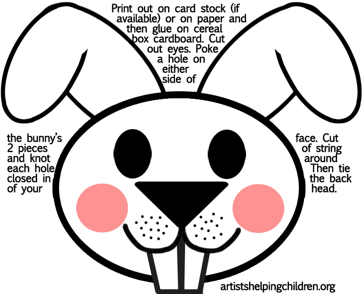 Printable Bunny Mask Template