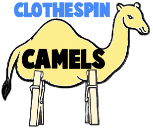 Clothespin Camels