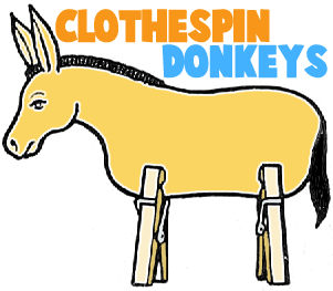 Clothespin Donkeys