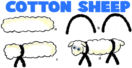 Make Cotton Pipe Cleaner Sheep