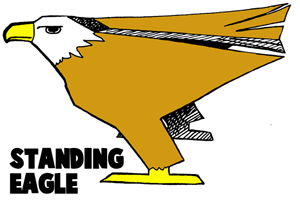 How To Make Standing Paper Eagles Craft