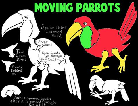 KF_4860] Origami Parrot Diagram | 369x480