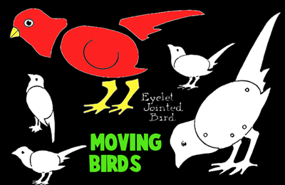Making moveable paper birds