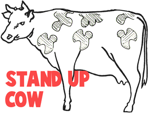 Making Stand Up Cows