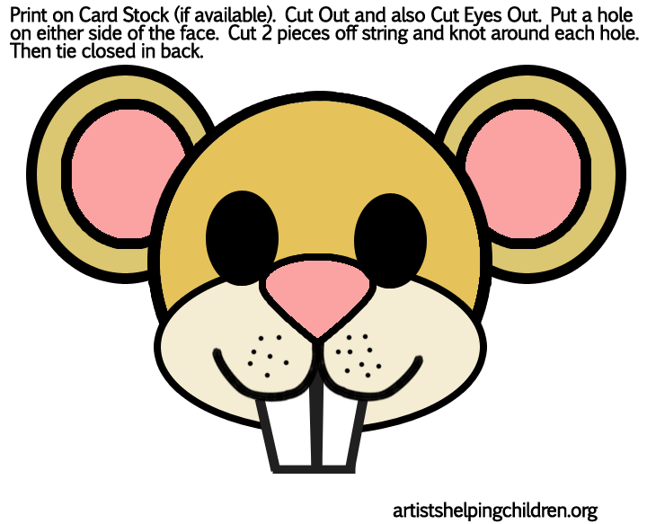 Mouse mask outline new calendar template site for Mouse mask template printable