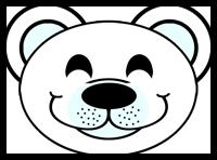 How to make paper polar bear masks