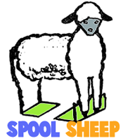 How to Make Standing Sheep with Spools