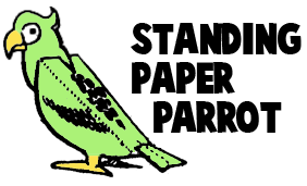 Standing Paper Parrot Craft