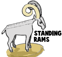 Standing Rams Paper Folding Craft