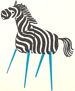 Make Zebras from Corks and Toothpicks