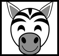 make zebra masks