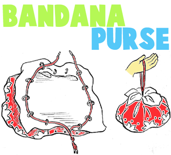 How to Make a Purse or Draw String Bag from Handkerchief