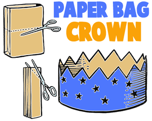 make a paper bag crown