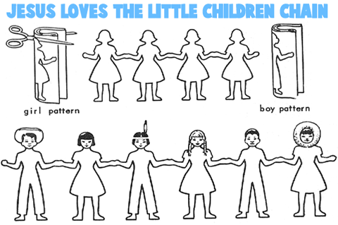 Jesus Loves The Little Children Crafts For Preschoolers