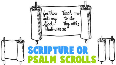 How to Make Scripture or Psalm Scrolls