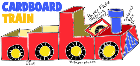 How to Make Cardboard Toy Trains