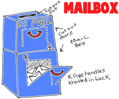 Make a Toy Mailbox to Play Mailman