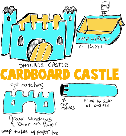 Make Shoe Box Castles