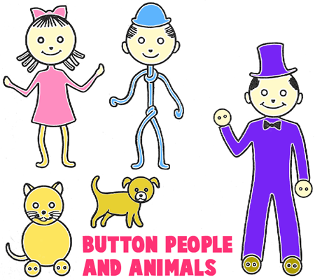 Making Button People and Animals