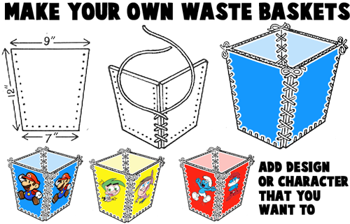 Make Cardboard Watebaskets