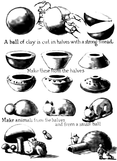 Forming Clay Objects with Ball Forms
