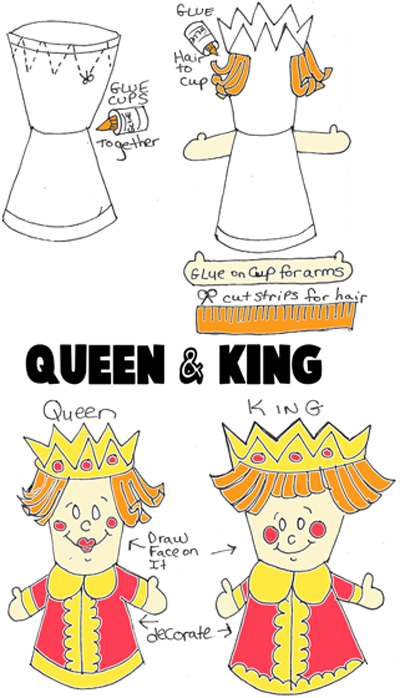 Making Kings And Queens From Disposable Cups
