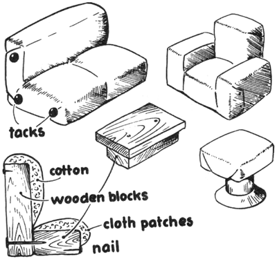 how to make doll furniture. dollhouse furniture with wooden blocks how to make doll u