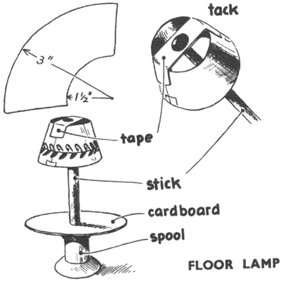 Dollhouse Floor Lamp Making Craft Instructions