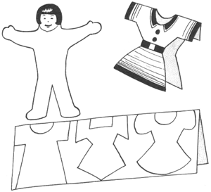 Paper Cut Out Dolls And Clothing Crafts For Kids Girls