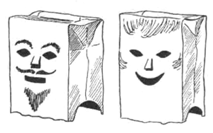 Brown Paper Bags Costume Masks