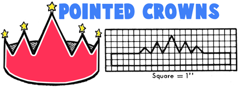 Pointed Paper Crowns