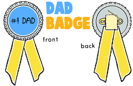 Make a #1 Dad Bottle Cap Badge Ribbon