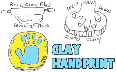 How to Make Dad Clay Handprints
