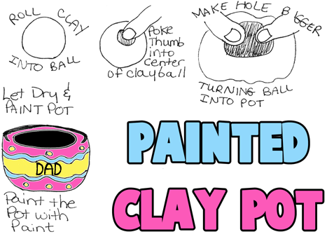 How to Make a Painted Clay Pot for Daddy