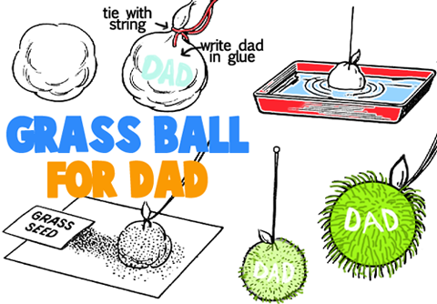 Grass Ball for Dad