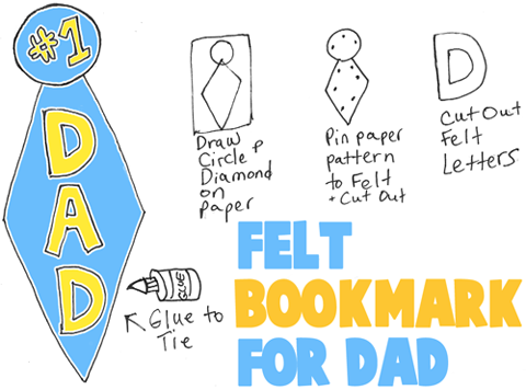 Make Felt Bookmarks for Dad