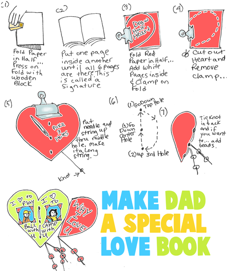 Make Dad a Why I Love You Heart Book