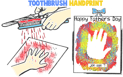How to Make Splatter Painted Handprints for Dad