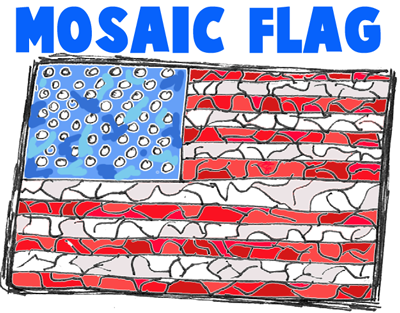 Mosaics US Flags Group Projects
