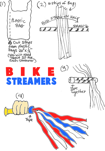 4th of July Bike Streamers