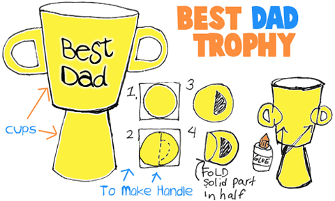 How to Make Best Dad Fathers Day Trophy