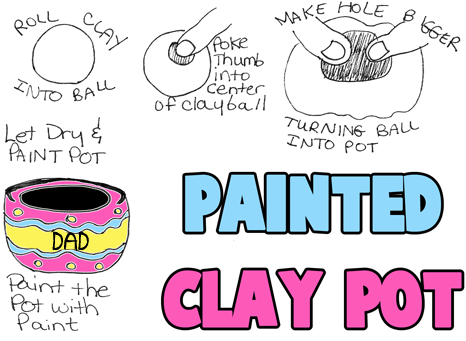 Making a Painted Clay Pinch Pots