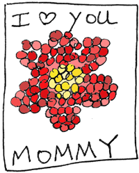 Mothers Day Paper Mosaics Heart Picture